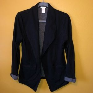 Matty M Black Roll Cuff Jacket Blazer, NWOT